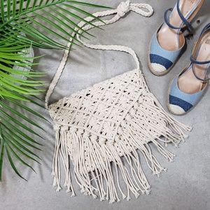 Bohemian Handmade Crossbody Bag Tassel Envelope